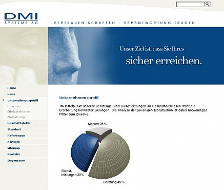 DMI Systems Homepage Screenshot 1
