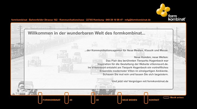 formkombinat GmbH Homepage Screenshot 1