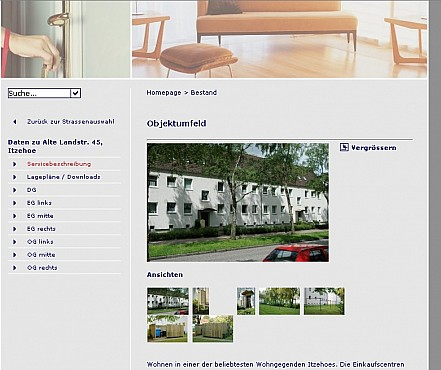 GVI Itzehoe immovables webpage Screenshot 2