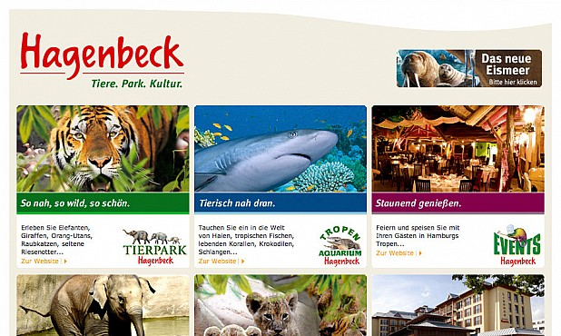 Hagenbecks Tierpark Homepage Screenshot 1