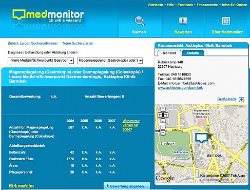 Med Monitor GmbH portal Screenshot 3