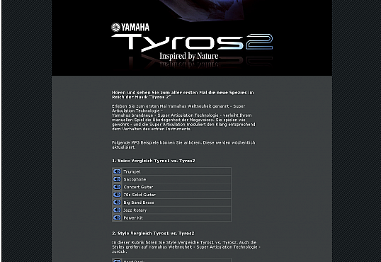 Yamaha Tyros2 Flashteaser Screenshot 2