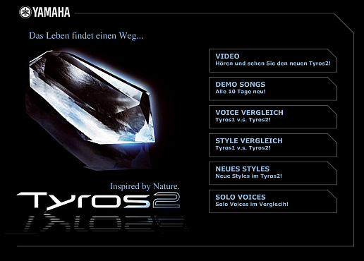 Yamaha Tyros2 Flashteaser Screenshot 1