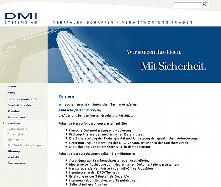 DMI Systems Homepage Screenshot 2