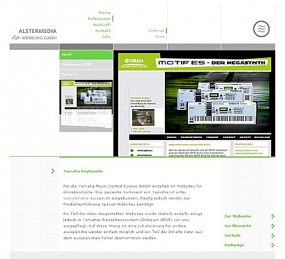 Alster Media homepage Screenshot 1